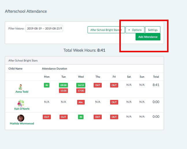 "3. Edit any attendance records by selecting ""add attendance"", mark as absent, holidays, request reason for absence and more"